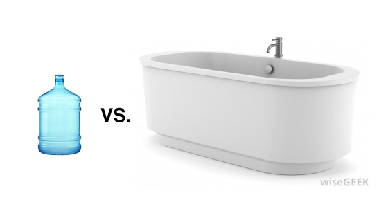 Jug vs tub