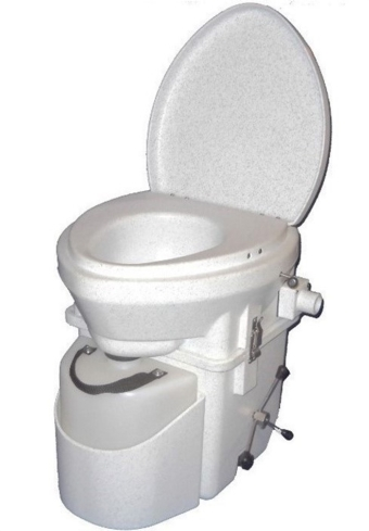 Current front runner in the search for a composting toilet. Relatively small. Sturdy construction. (Nature's Head with spider handle)